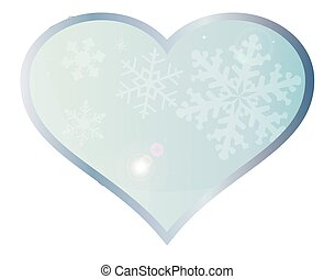 Love Winter - A blue winter setting with snowflakes set into...