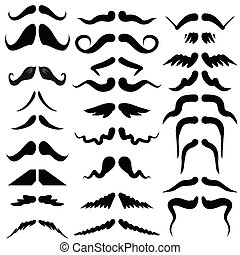 moustaches silhouettes - illustration with moustaches...