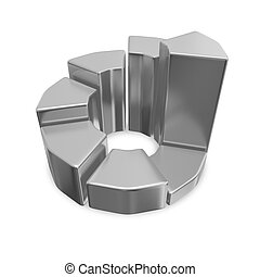 Business Growth Chrome 3D Pie Chart