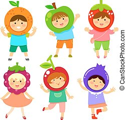fruity kids - cute kids dressed like fruit
