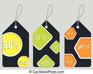 Vivid color discount labels - Vivid color discount label set...