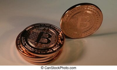 Bitcoin Standing Upright, Toppling