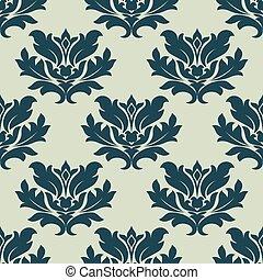 Foliage scroll seamless tracery pattern