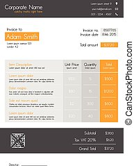 Invoice template - modern and clean - Business invoice...