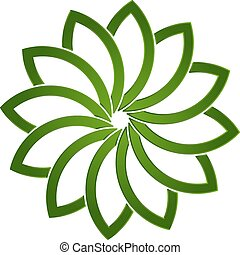 Lotus green plant logo