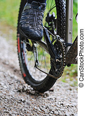 mountain bike - healthy lifestyle and fitness concept with...