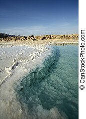 Dead sea - salt of Dead sea, Israel