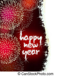 happy new year firework fireworks - colorful impressive...
