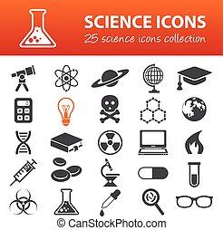 Ciencia, iconos,
