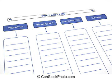 SWOT Analysis - SWOT analysis paper ready to be filled out