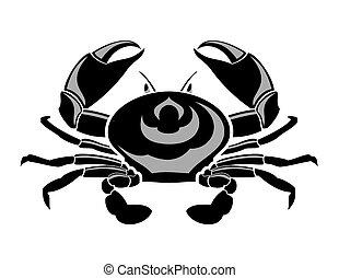 Marine crab. - Marine crab is on white background.