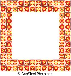 Geometric ethnic patchwork frame - Seamless geometric ethnic...