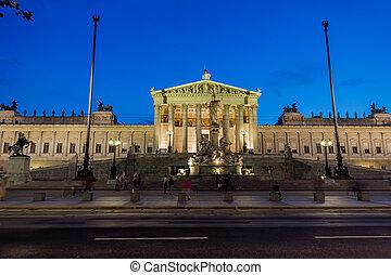 austria, vienna, parliament - parliament in vienna, austria...