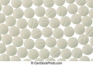 white tablets in abundance - white tablets, symbolic photo...