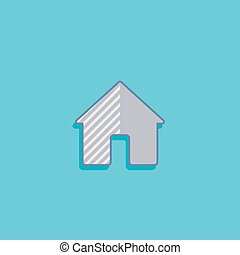 simple vector illustration with a house. home icon flat design