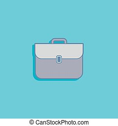 vector illustration with a briefcase in flat style design
