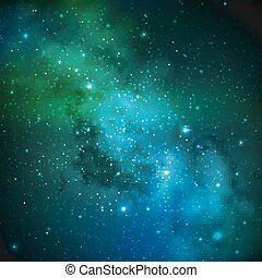 abstract vector background with night sky and stars...
