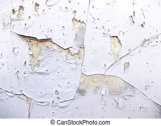 Peel Off White Painted Wall Texture