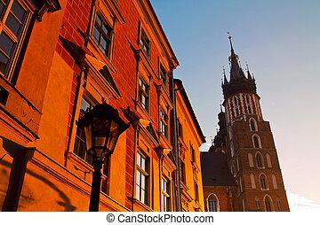 Saint Mary Basilica in Krakow - Saint Mary Basilica and...