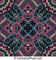 Vector Abstract Seamless Colorful Pattern - Vector Ethnic...