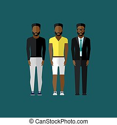 men fashion style. illustration in flat style