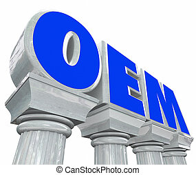 OEM Letters Stone Columns Original Equipment Manufacturer...