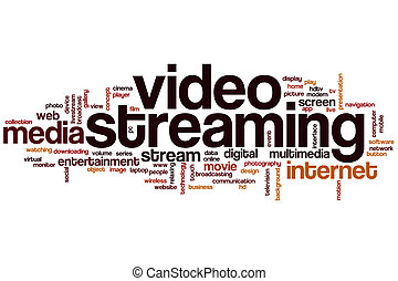 Video streaming word cloud concept