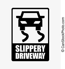 slippery driveway design,vector illustration eps10 graphic