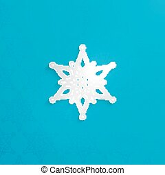 vector illustration of Christmas paper 3d snowflake with shadow