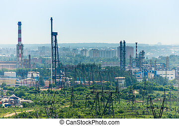 Industy area - Extreme industry area with refinery, electric...