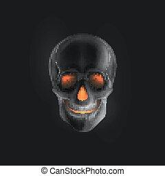Vector halloween illustration of an evil skull
