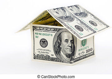 House built with American money - 100 dollars