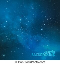 abstract vector background with night sky and stars....