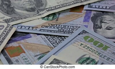 Close view of American currency