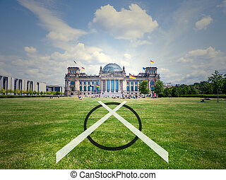 election bundestag, illustration symbol, parliament germany