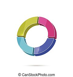 Colored icon with round graphic For the record profits,...
