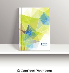 Vector template for magazine covers, brochures with colored...