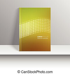 Vector template for magazine covers, brochures with wave of...
