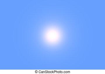 the sun - clear blue sky and the sun