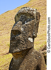 Rapa Nui National Park - Moai in Rapa Nui National Park on...