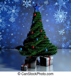 Gifts under the tree Christmas Tree Natural tree festive new...