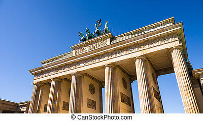 brandenburger tor berlin with very blue summer sky