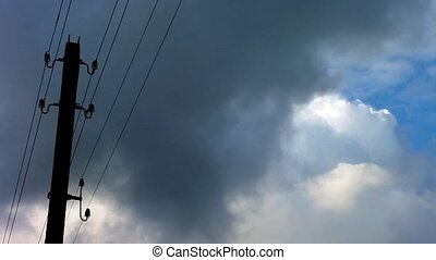 Clouds and Power Lines