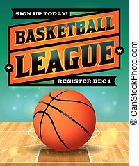Basketball League Flyer Illustration - An illustration for a...