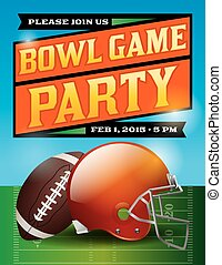 American Football Bowl Game Party Illustration - An...