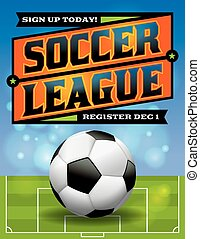 Soccer League Flyer Illustration - An illustration for an...