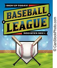 Baseball League Illustration - A baseball league...