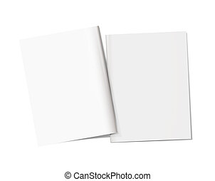 Mockup magazine cover on a white background. Back and front....