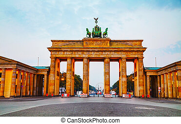 Brandenburg gate in Berlin, Germany - Brandenburg gate...