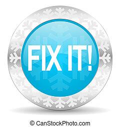 fix it icon, christmas button